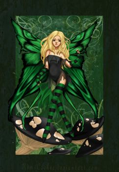 Green Fairy of Poison by KimiCookie