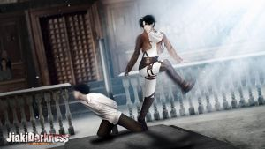 Revile Free Kick Shingeki no Kyojin  cosplay by Jiakidarkness