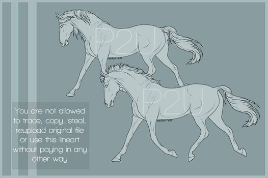 P2U Horse lineart 001 by HorRaw-X