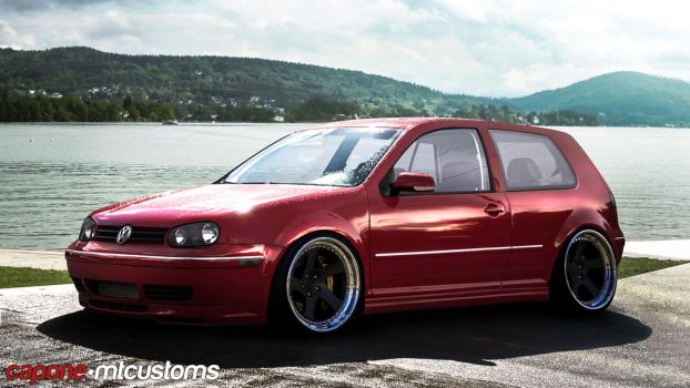 Dat Stance! Golf MK4 by CaponeDesign