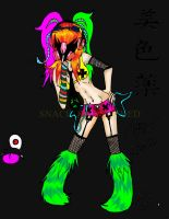 Cyber Goth Go 'Shhhh...it' by snackorbsnacked