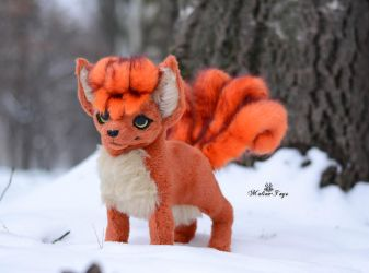 Sold! Poseable toy  Vulpix by MalinaToys
