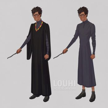 Harry in uniform by LouhiArt