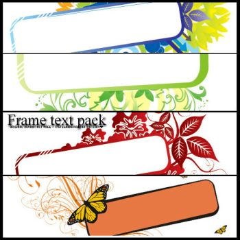 + Frame text pack one. by itstew