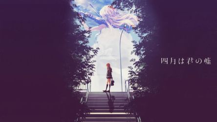 Shigatsu Wa Kimi No Uso Wallpaper by Dinocojv