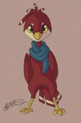 Little Red Birb by Kaydreamer