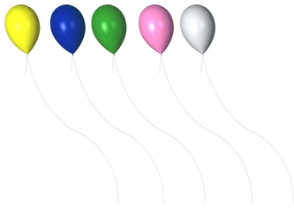 STOCK PNG coloured balloons by MaureenOlder