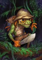Sir Finley Mrrgglton Hearthstone League of Explore by PlanK-69