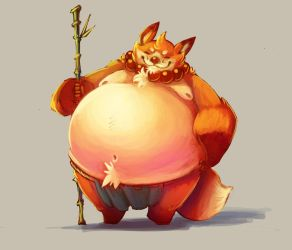 Digital Practice  That Butterball Monk by ben-ben