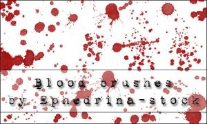 Blood brushes by ephedrina-stock