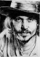 Johnny Depp Portrait by HisakiChan