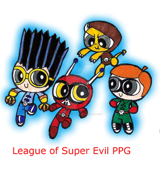 League of super evil PPG style by VOLTAREVILGIRL