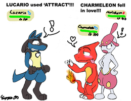 Lucario uses Attract