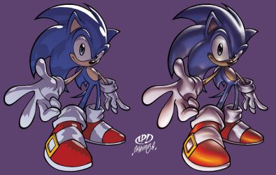 Sonic - 2 colour styles by theCHAMBA