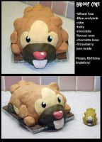 Bidoof Birthday Cake
