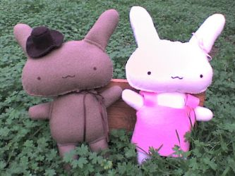 Mr. and Ms. Bunny by VioletLunchell