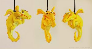 Hanging Yellow Dragon by LitefootsLilBestiary