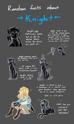 Random Facts About Knight (EVOLOONS) by CoffeeAddictedDragon