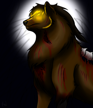 Day 2 - Zombie Wolf by Radioactive-Wolf