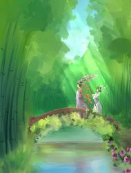 Bamboo forest by Cyraelh