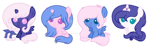 Filly Celestia And Luna Adoptables :OPEN: by T-sukiN-eko