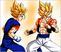 Gogeta and Vegito by MajinHasin