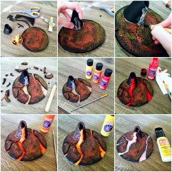 How To Make A Volcano Out Of Foam! by TheVintageRealm