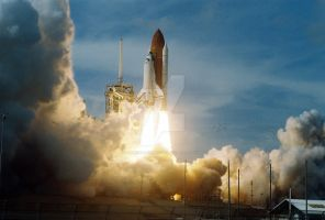STS-122 Launch by airandspacephotos