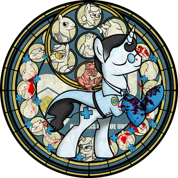 TF2+MLP+KH: MEDIC Stained Glass by Crystalchan2D