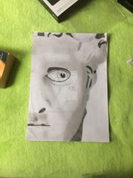 Statue Of David Drawing by DarkWhispers123