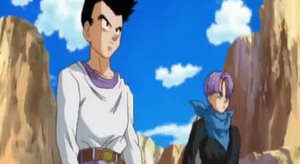 Adult Goten and Trunks Fusion Gif by Mirai-Digi