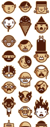 Personnages by alchimisterie
