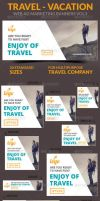 Travel - Vacation Web Ad Marketing Banners Vol3 by webduckdesign