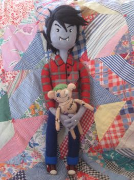 My Needle Felted Marshall Lee with his Hambo by CatsFeltLings