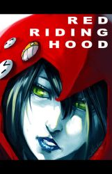 red ridin hood's face by tobiee