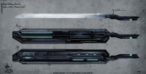 Nsa Concept Art Weapons Monic Saber by VLADSPARTA