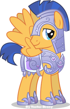 Flash sentry in crystal armour by Vector-Brony
