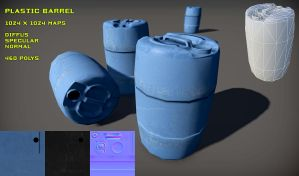 Free Plastic Barrel pack by Yughues