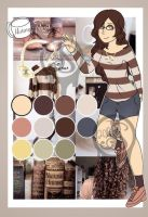 Moodboard adopt-Closed Nerdy girl by Pinkwolfly