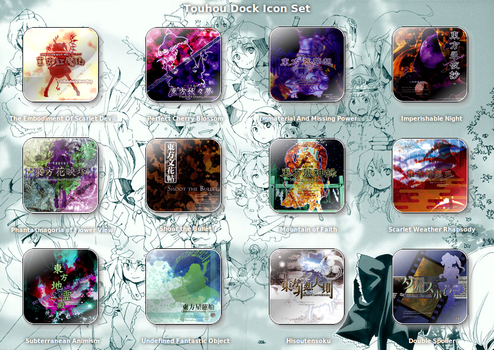 Touhou Dock Icon Set by requiem18th