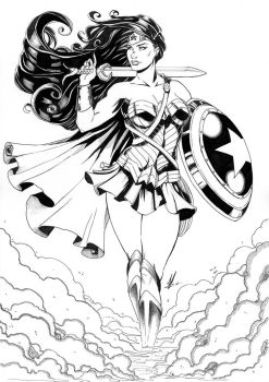Wonder Woman Inks by Marc-F-Huizinga