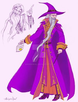 Dumbledore coloured by GingerOpal