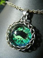 Green And Blue Octopus Eye by BacktoEarthCreations