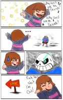 Undertale - Why can't we be friends? by Arinna1
