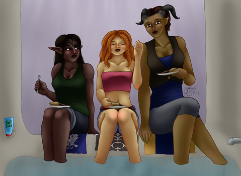 Dragon Age: Spa Day by AniDragon