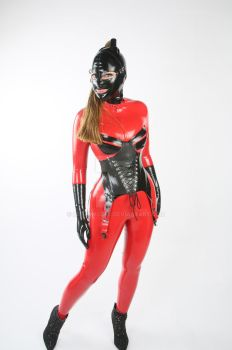 Latex Model - Red and Black by LatexModel