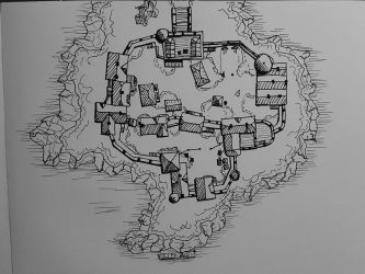 Map of a Small Medieval Settlement - 2015 by HusseinHorack