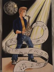 The Saxophone Player by InnuDoggy