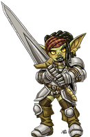 Female Goblin Fighter by ProdigyDuck