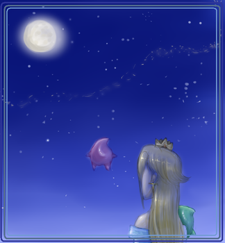 Watching at the moon by chocolapeanut